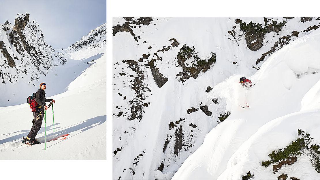 Felix Wiemers skitouring in Montafon