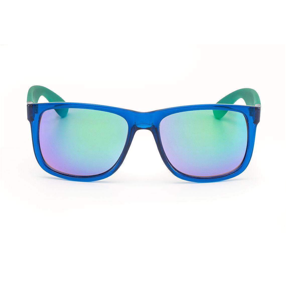 front view mirrored wayfarer sunglasses