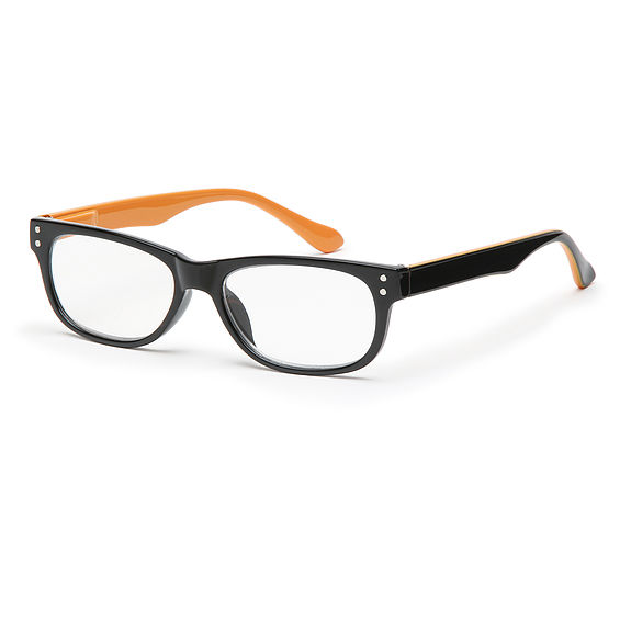 Main view reading glasses San Francisco orange