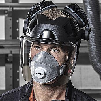 uvex pheos faceguard Polykarbonat-Gesichtsschutz