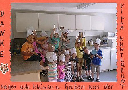 Eine neue Küche konnte durch Michael Winter und der Rainer Winter Stiftung im Kindergarten Villa Kunterbunt angeschafft werden.