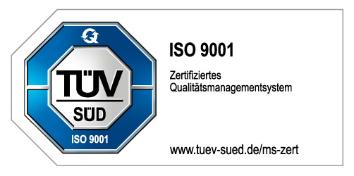 TÜV, certification according to EN ISO 9001