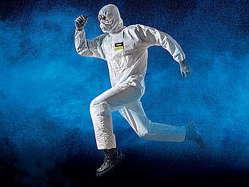 Protective suits and disposable coveralls