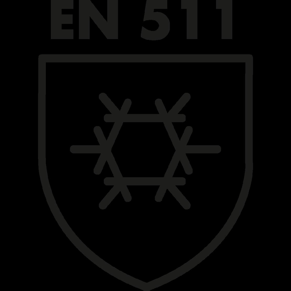 DIN EN 511 safety standards logo