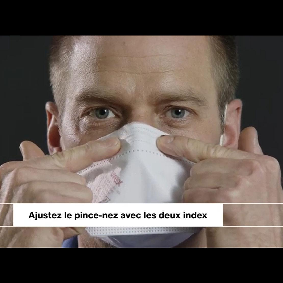 Conseils pour la bonne mise en place du masque respiratoire FFP2 uvex sil-air lite 4200