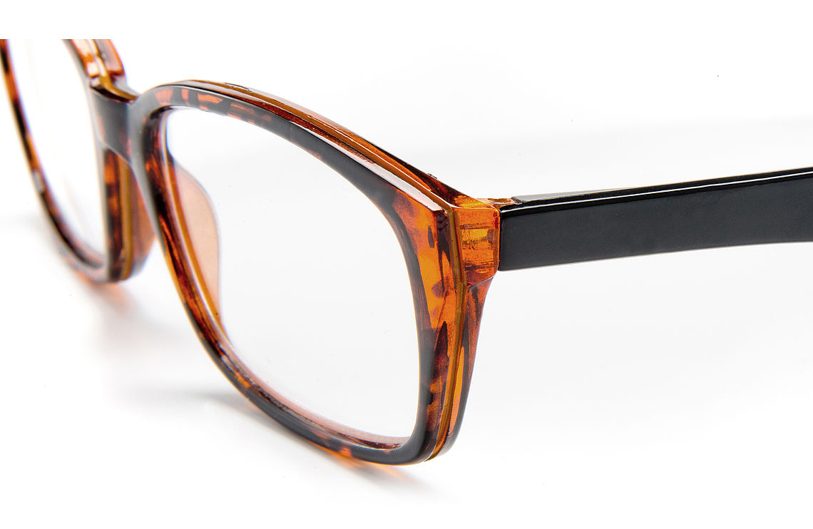 detailed view, reading glasses havanna