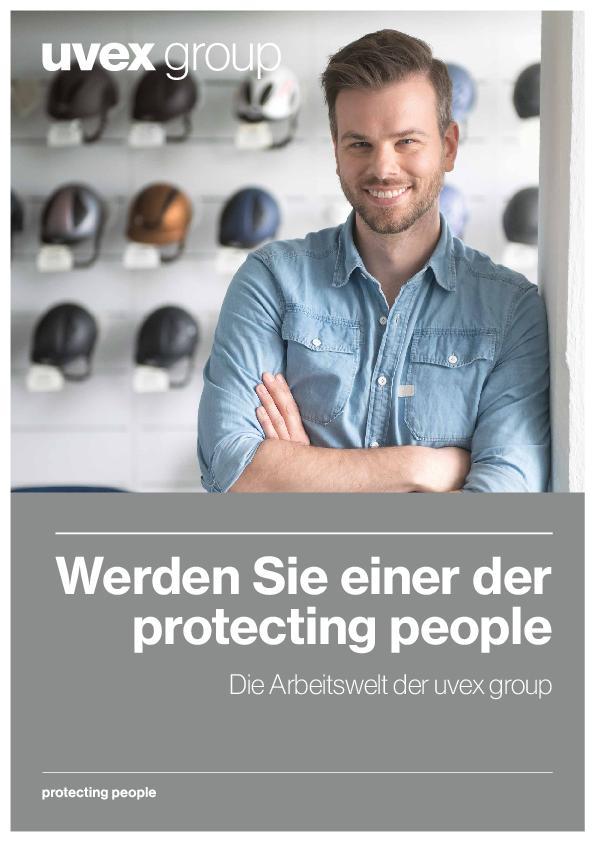Titelseite der Arbeitgebermarkenbroschüre der uvex group
