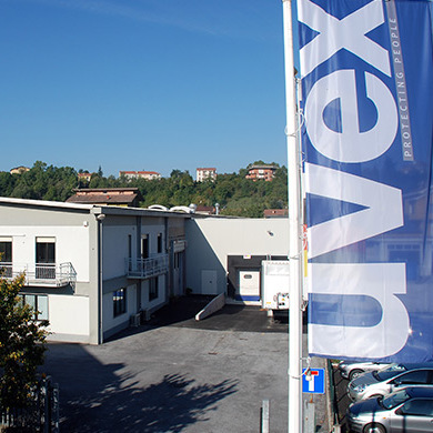 uvex safety shoe production in Cagi, Italy