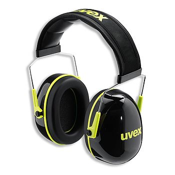uvex K2 black and yellow earmuffs