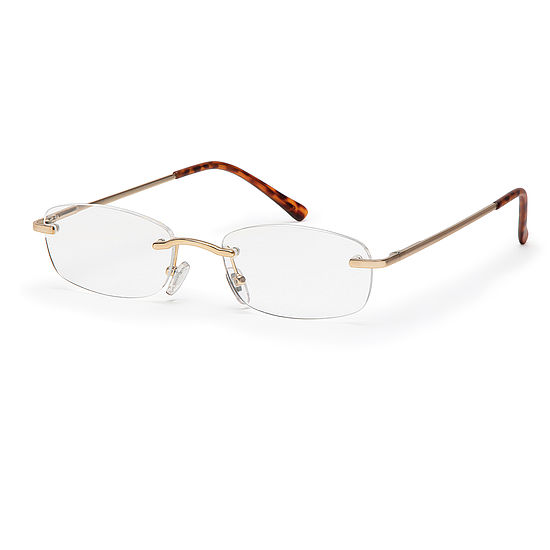 Main view reading glasses Hamburg gold