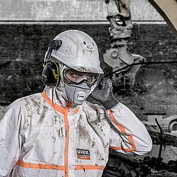 reliable breathing safety with a extra-comfortable respirator