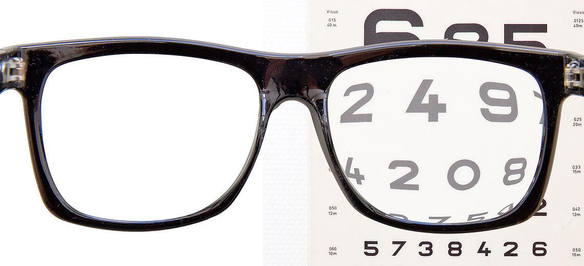 Lesebrille, asphärische Gläser