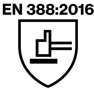 EN 388:2016 safety standard logo