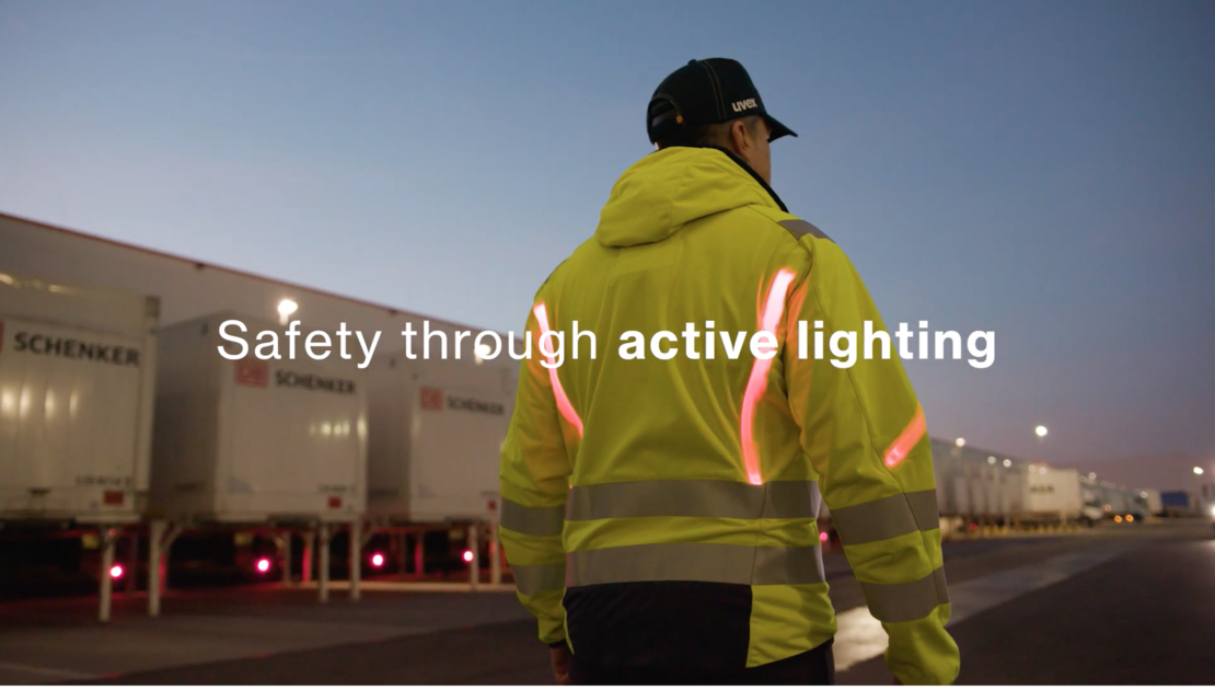 uvex active protection lighting vest video