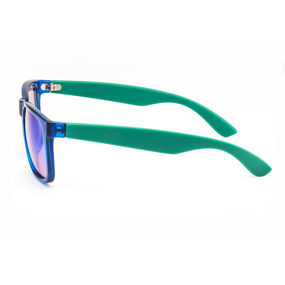 side view mirrored wayfarer sunglasses