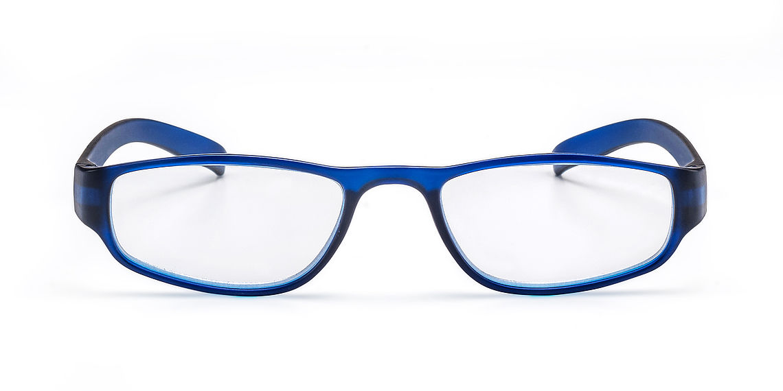 Reading glasses colour look blue