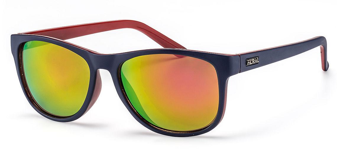 colourful mirrored wayfarer sunglasses