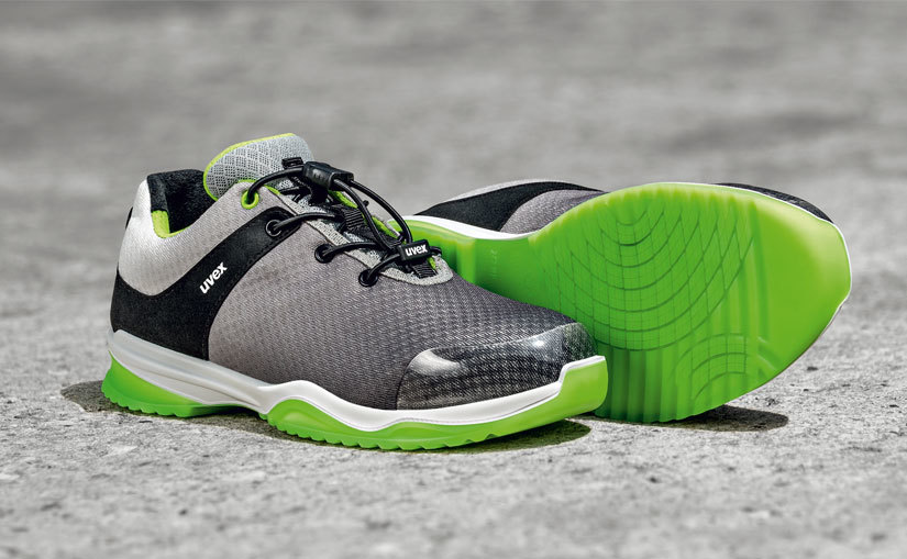 uvex sportsline green and grey safety trainers