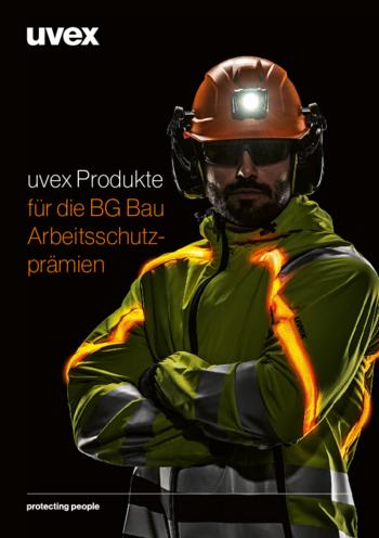 BG BAU Förderung uvex Produkte - Helme, Brillen, Gehörschutz, UV Schutz