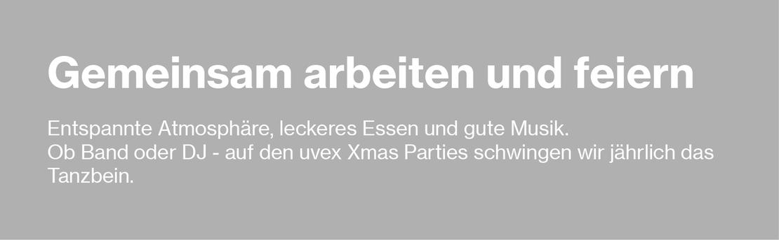 Gemeinsam Feiern. uvex group Weihnachtsfeier