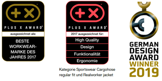 [Translate to Danish:] Arbeitskleidung von uvex safety bietet höchste Qualität. Kein Wunder, dass die Workwear-Kollektion uvex suXXeed mit dem Plus X Award für die beste Workwear-Marke des Jahres 2017 ausgezeichnet wurde.