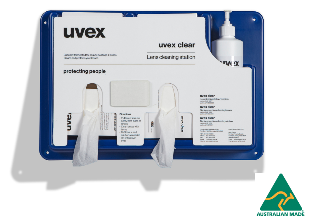 uvex lens cleaning station 1007