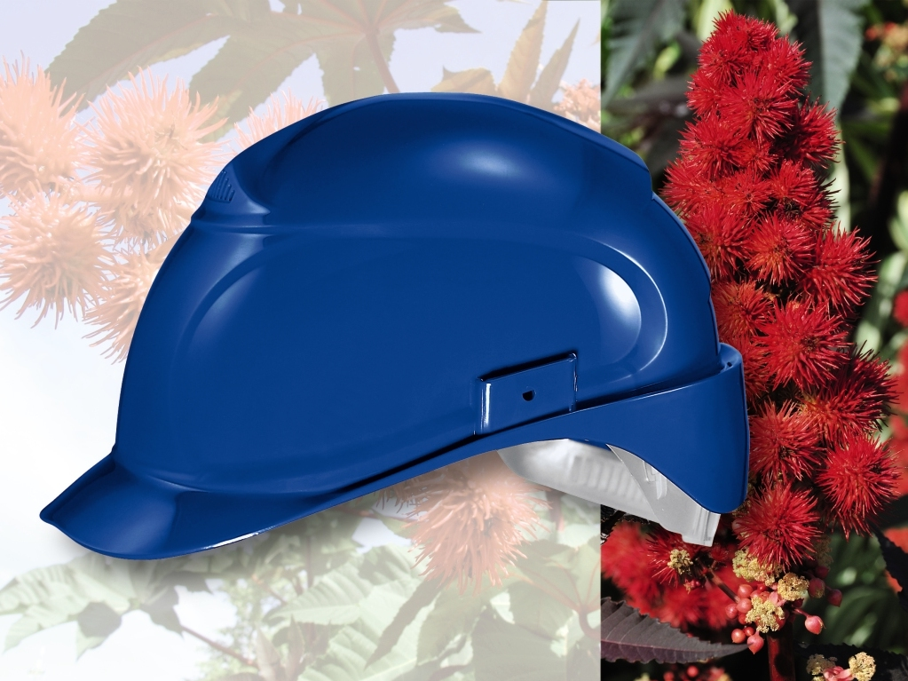 uvex pheos blue safety helmet side profile