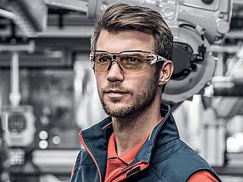 Scheibentönung bei Sicherheitsbrillen von uvex