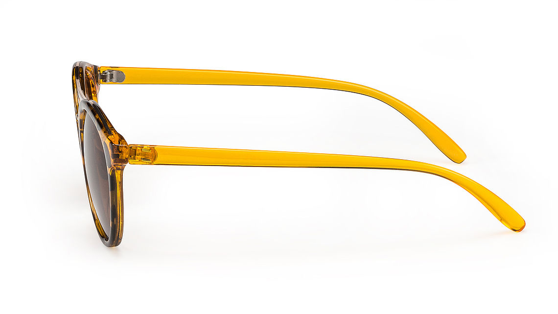 yellow preppy sunglasses, detailed view