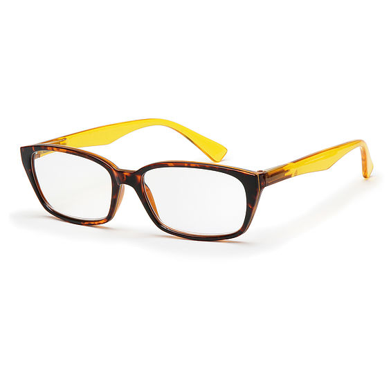 Main view reading glasses Havanna yellow