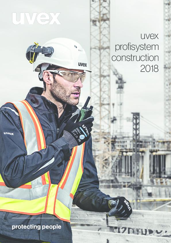 Spezielle Schutzausrüstung für die Baubranche biete uvex safety mit dem neuen profisystem construction