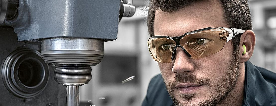 uvex safety eyewear ensures a perfect fit