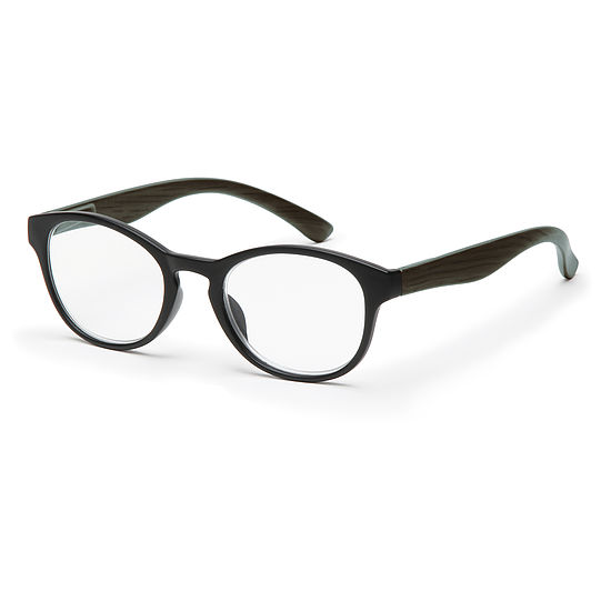 Round reading glasses style Amsterdam for oval faces