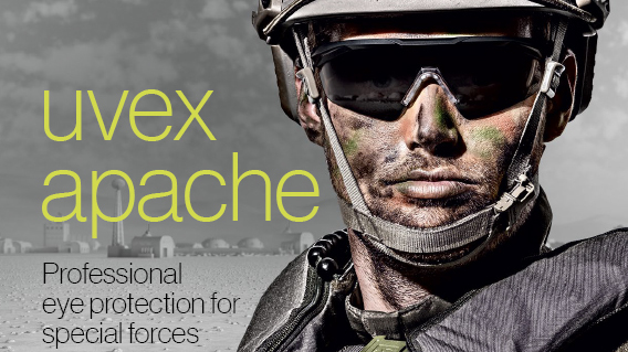 [Translate to Indonesian:] Download uvex apache folder - professional eye protection for special forces