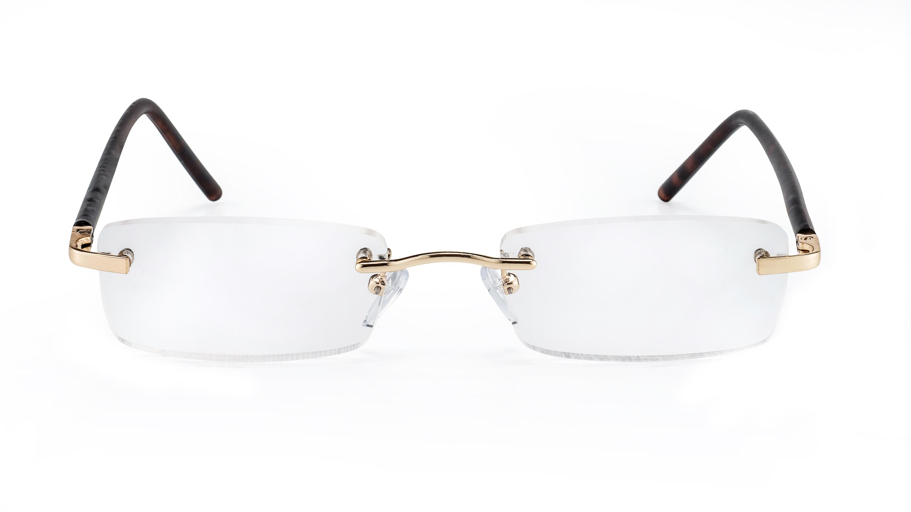 Front view reading glasses Monaco havana brown