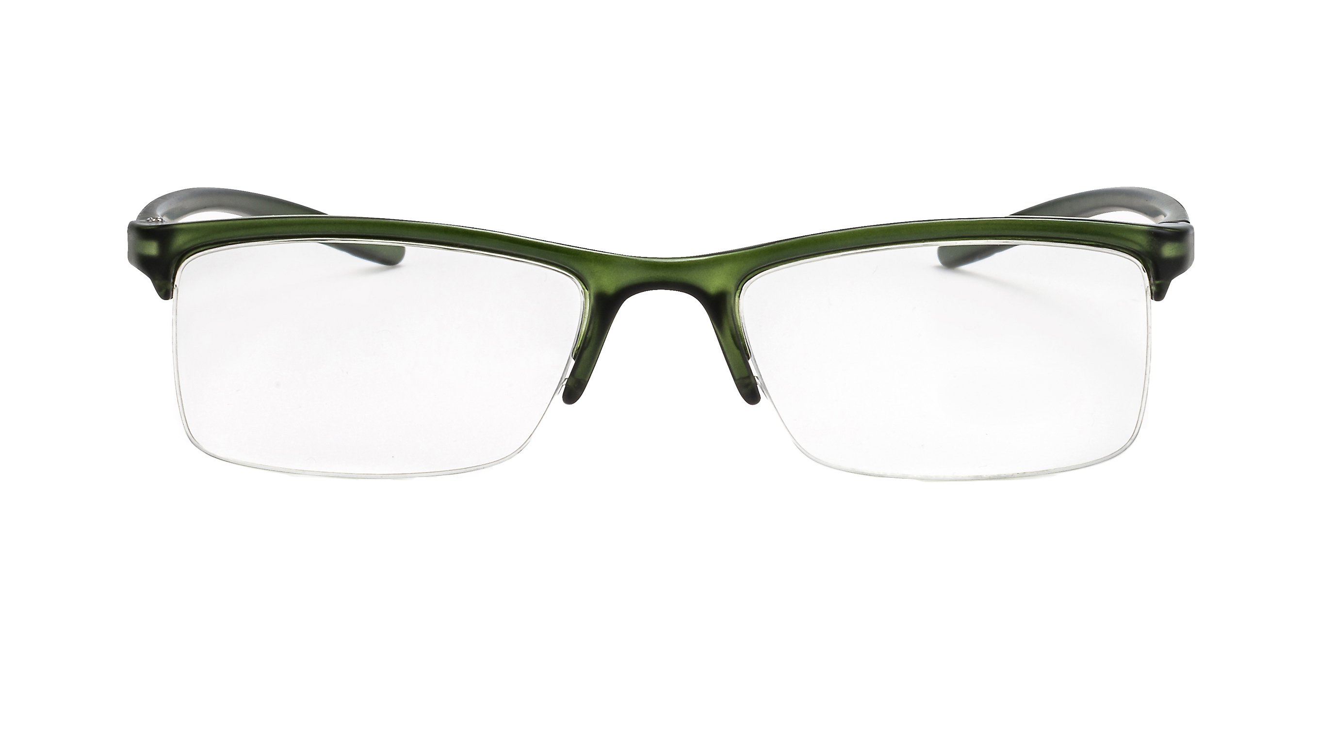 Front view reading glasses Miami green
