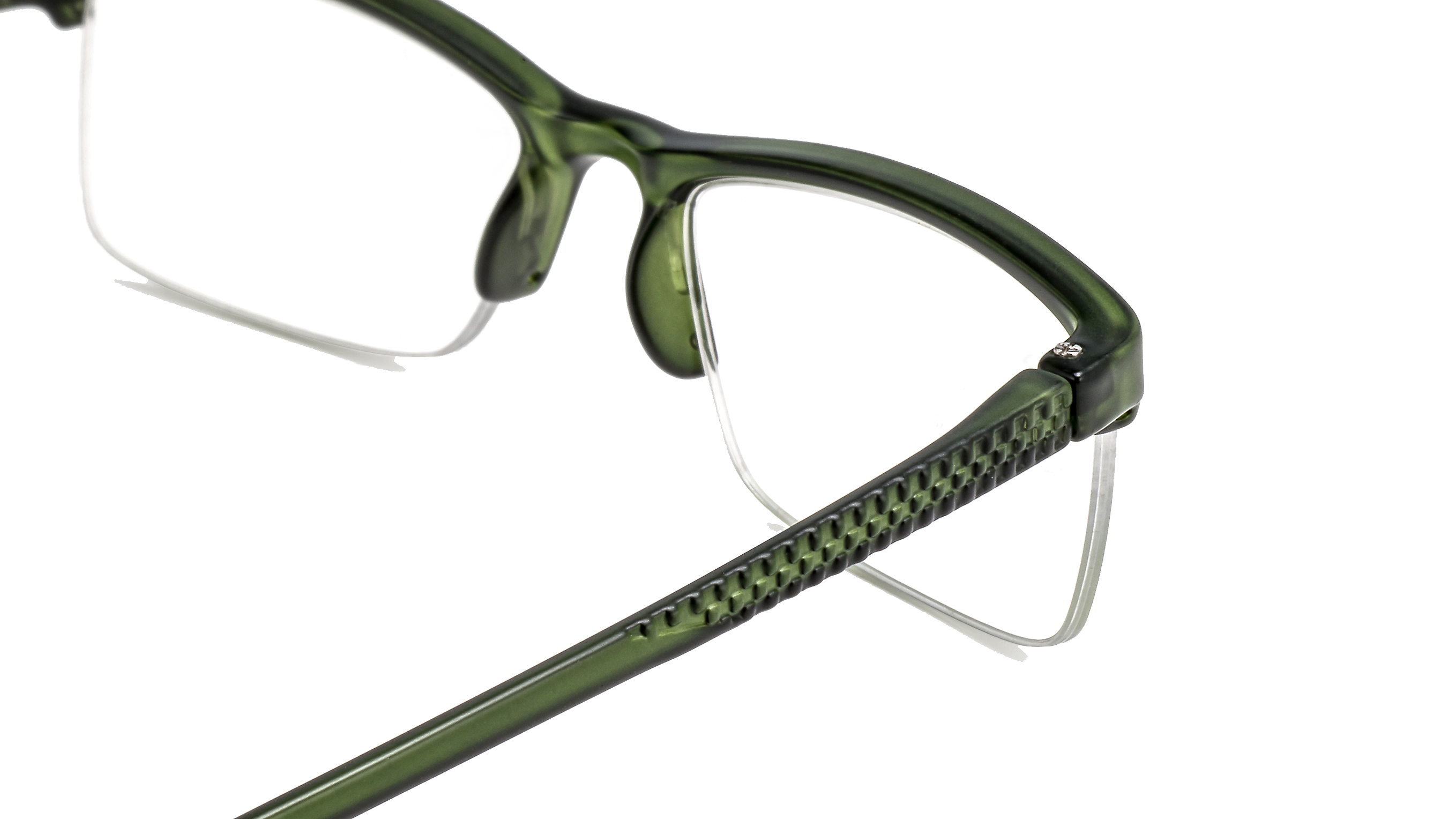 Detailed view reading glasses Miami green