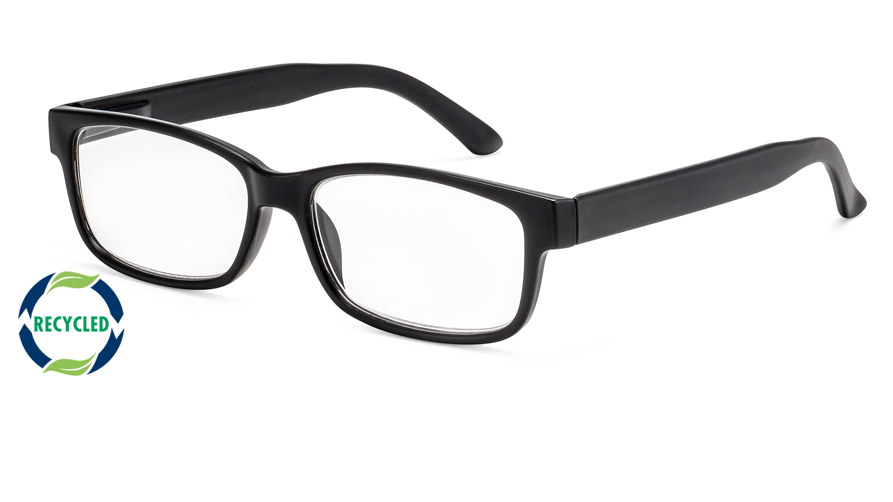 Filtral recycling reading glasses oslo black