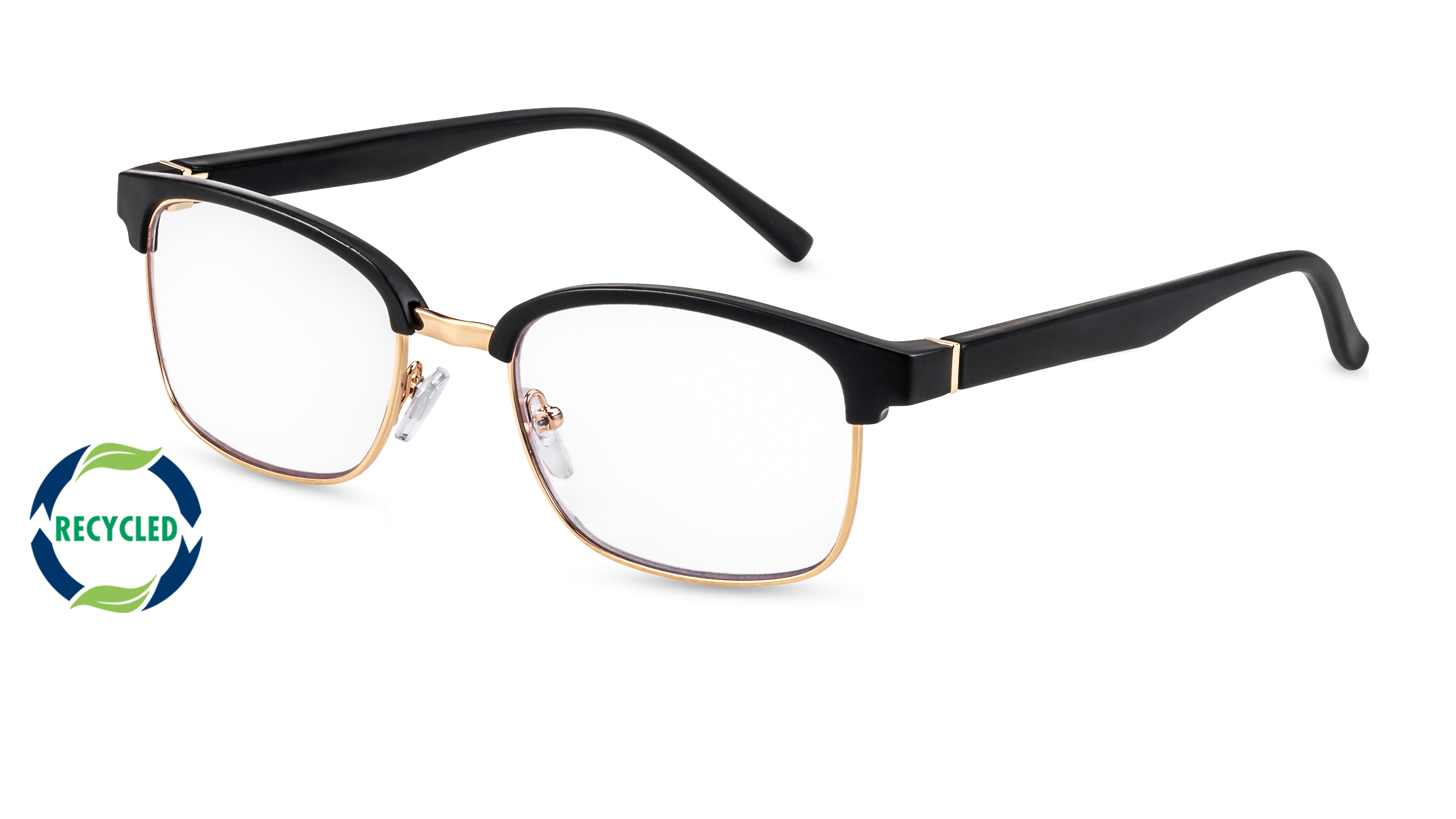 Filtral recycling reading glasses palermo black-gold