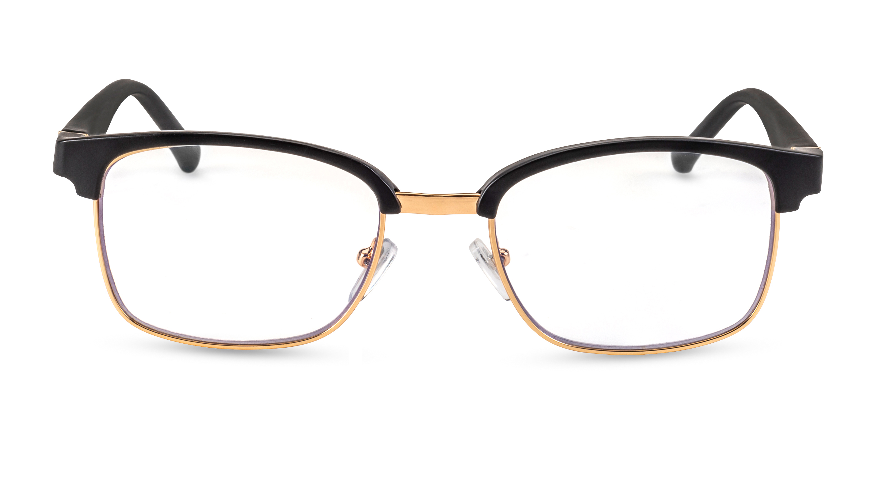 Fron view, reading glasses palermo black-gold