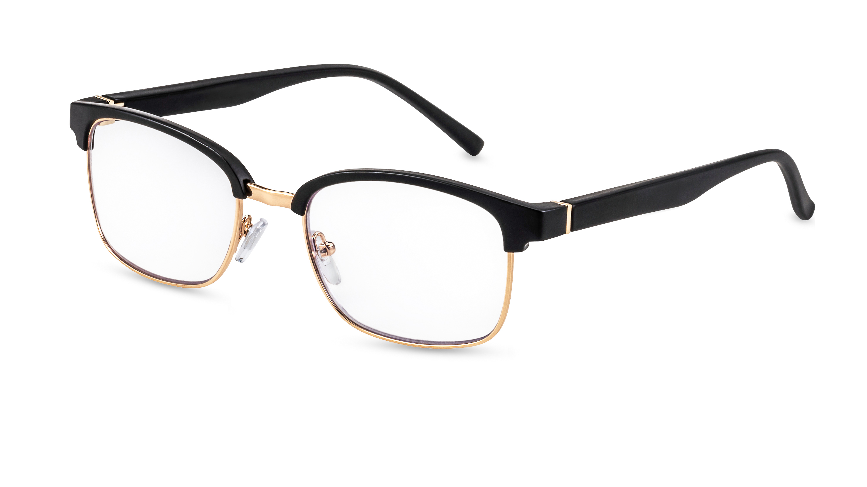 Main view, reading glasses palermo black-gold