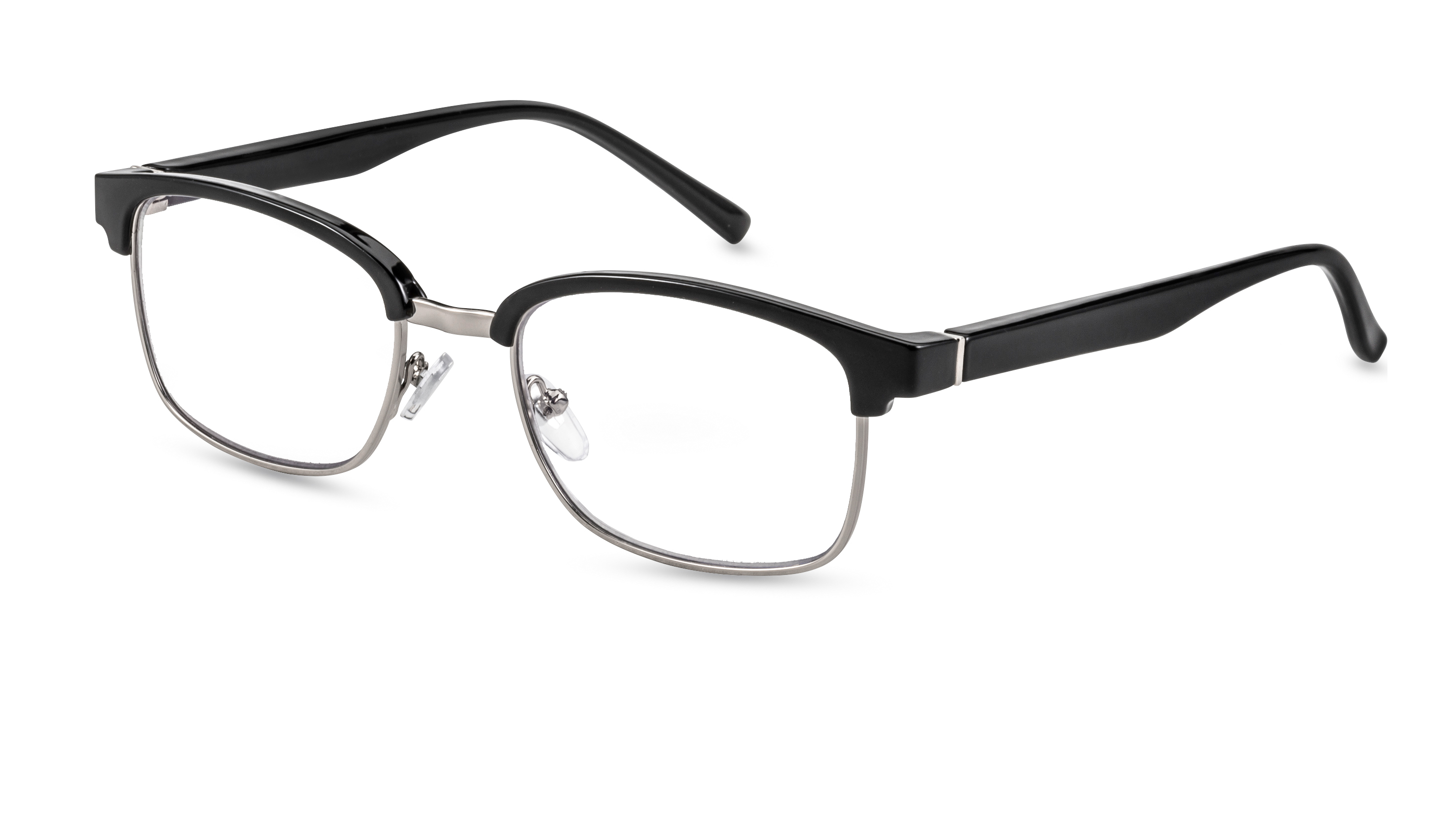 Main view, reading glasses palermo black-silver