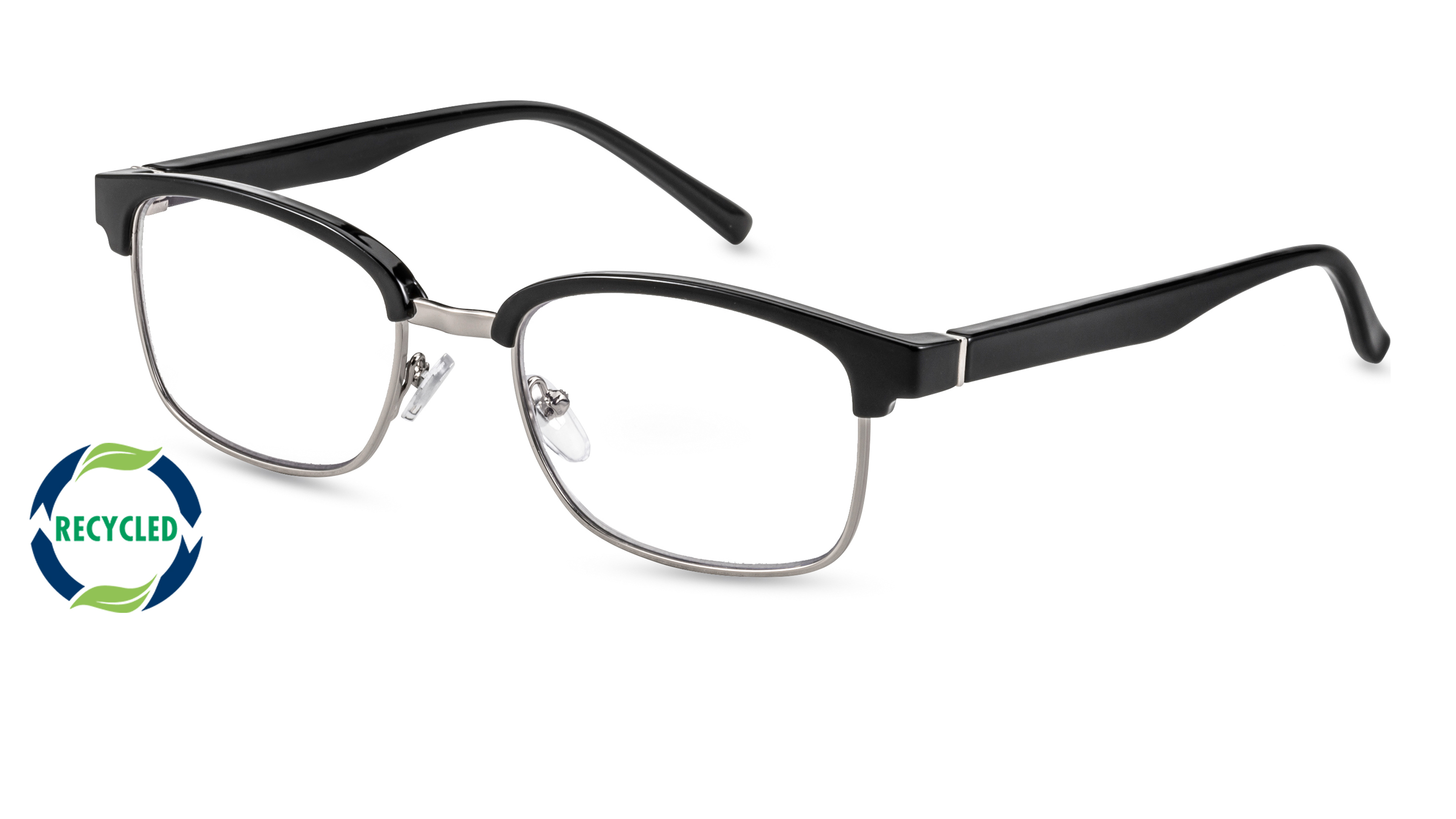 Filtral recycling reading glasses palermo black-silver