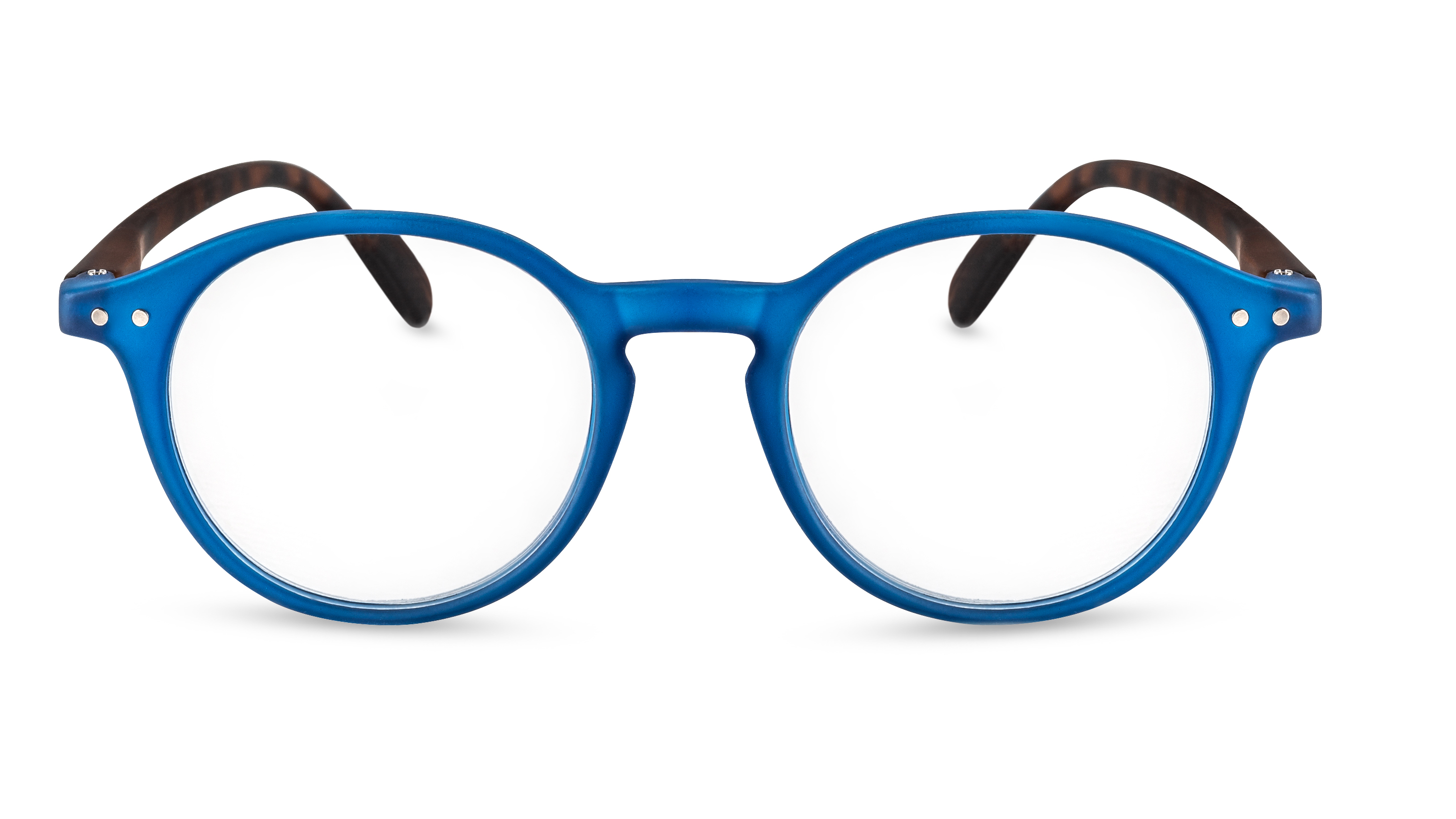 Front View Reading Glasses Rio blue-havana