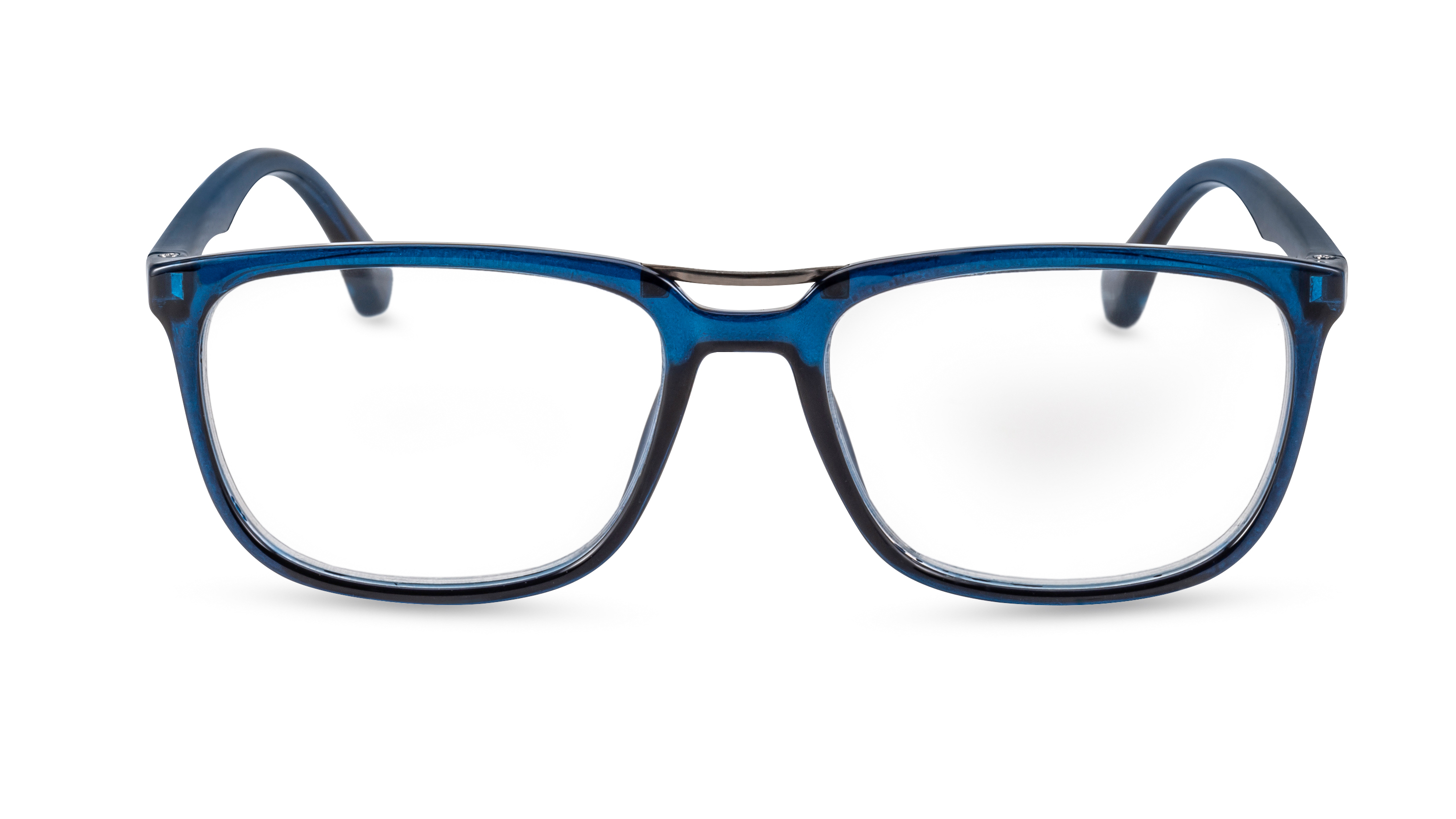Front view, reading glasses stockholm blue