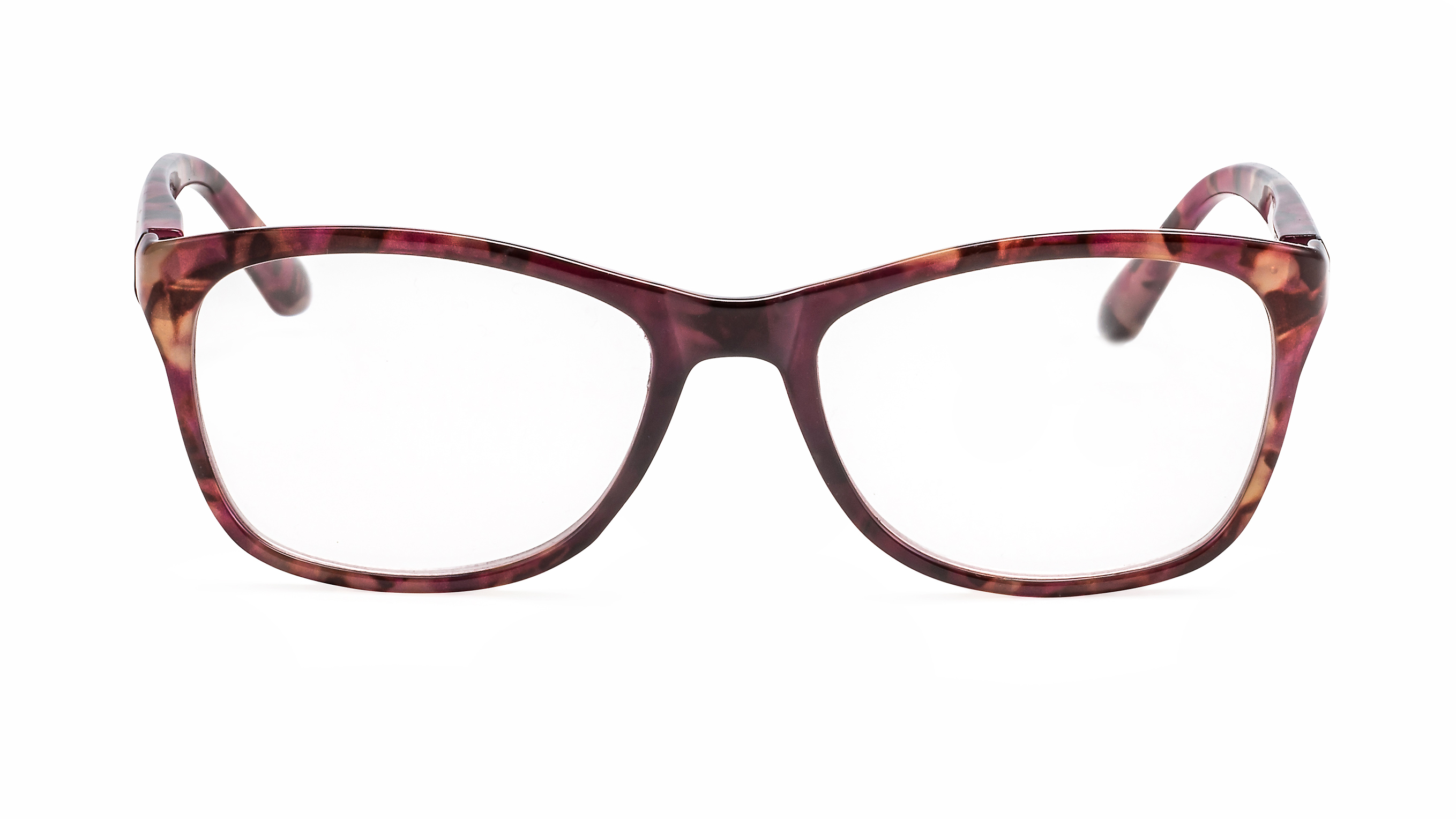 Front view reading glasses Tokyo red