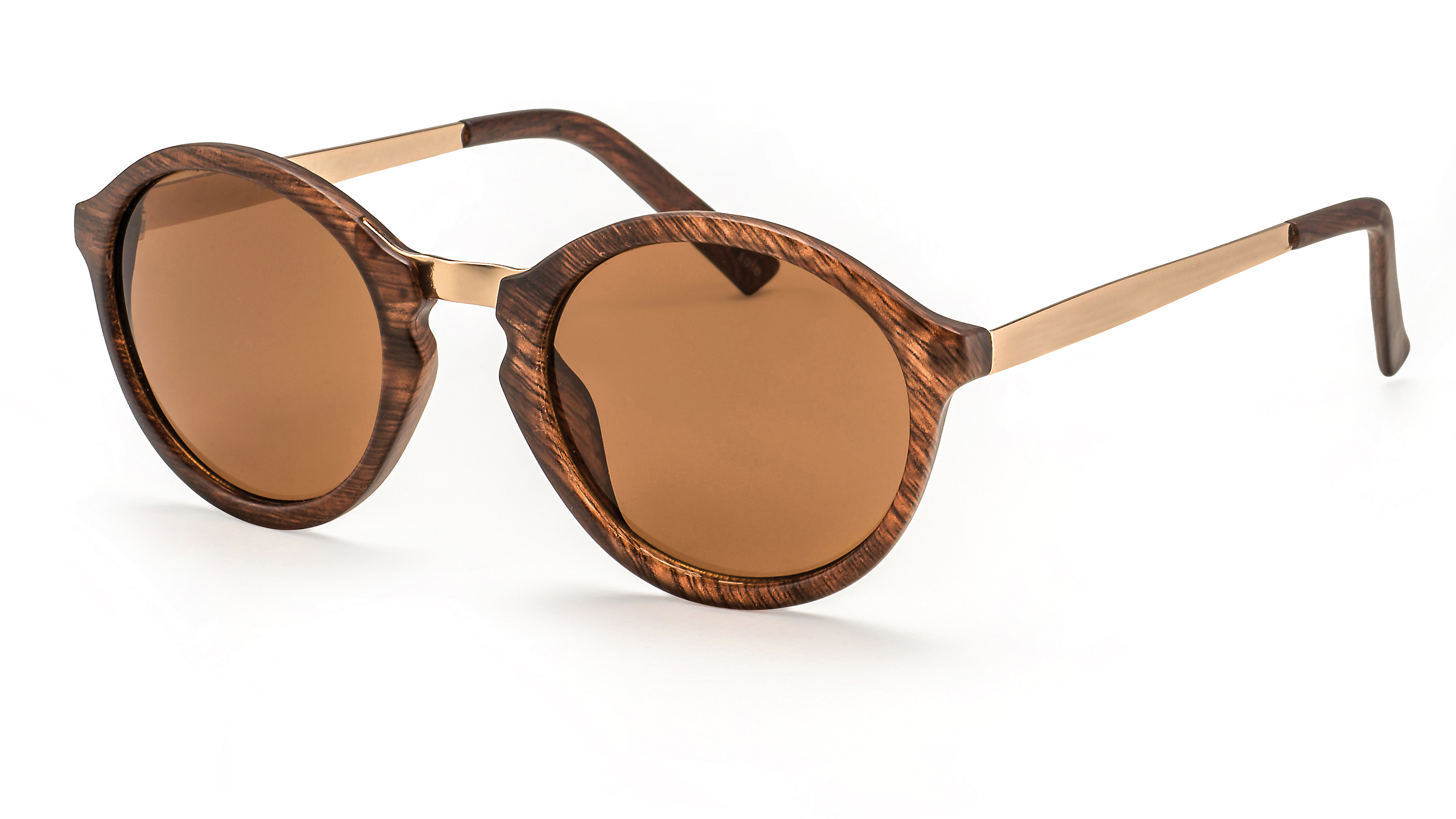 Main view round wood sunglasses F3001119