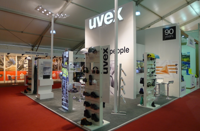 The TOS H Expo 2016 booth of uvex safety