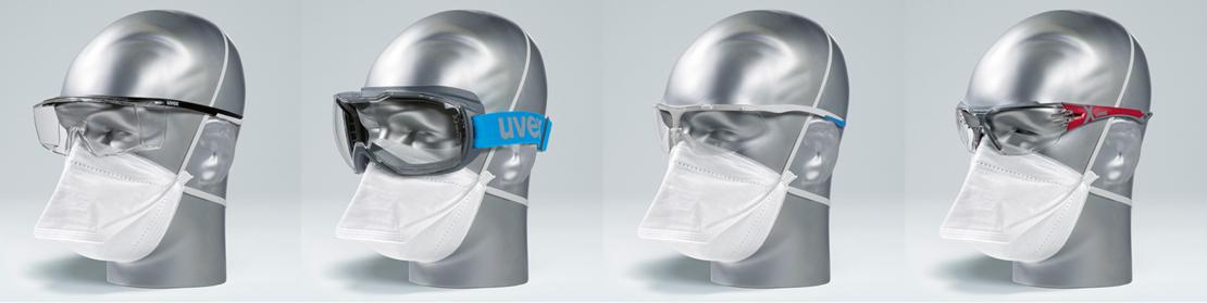 półmaska ochronna w połączeniu z goglami i okularami ochronnymi