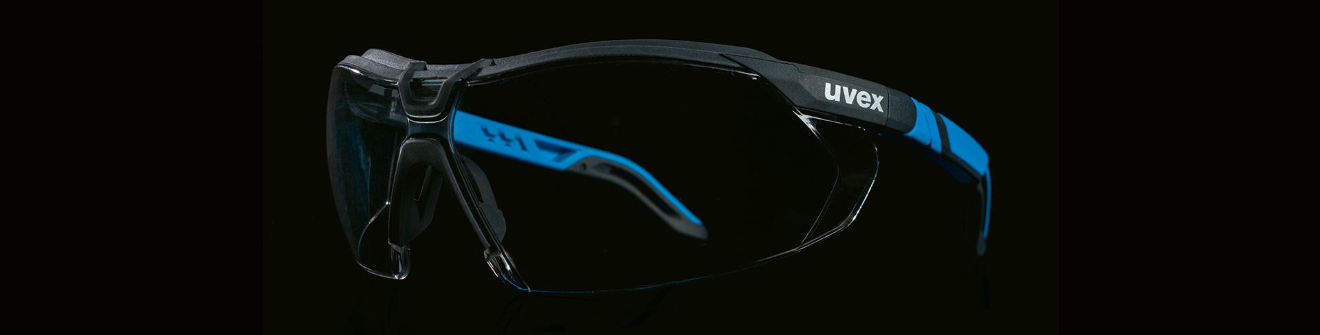 okulary uvex i-5 na czarnym tle
